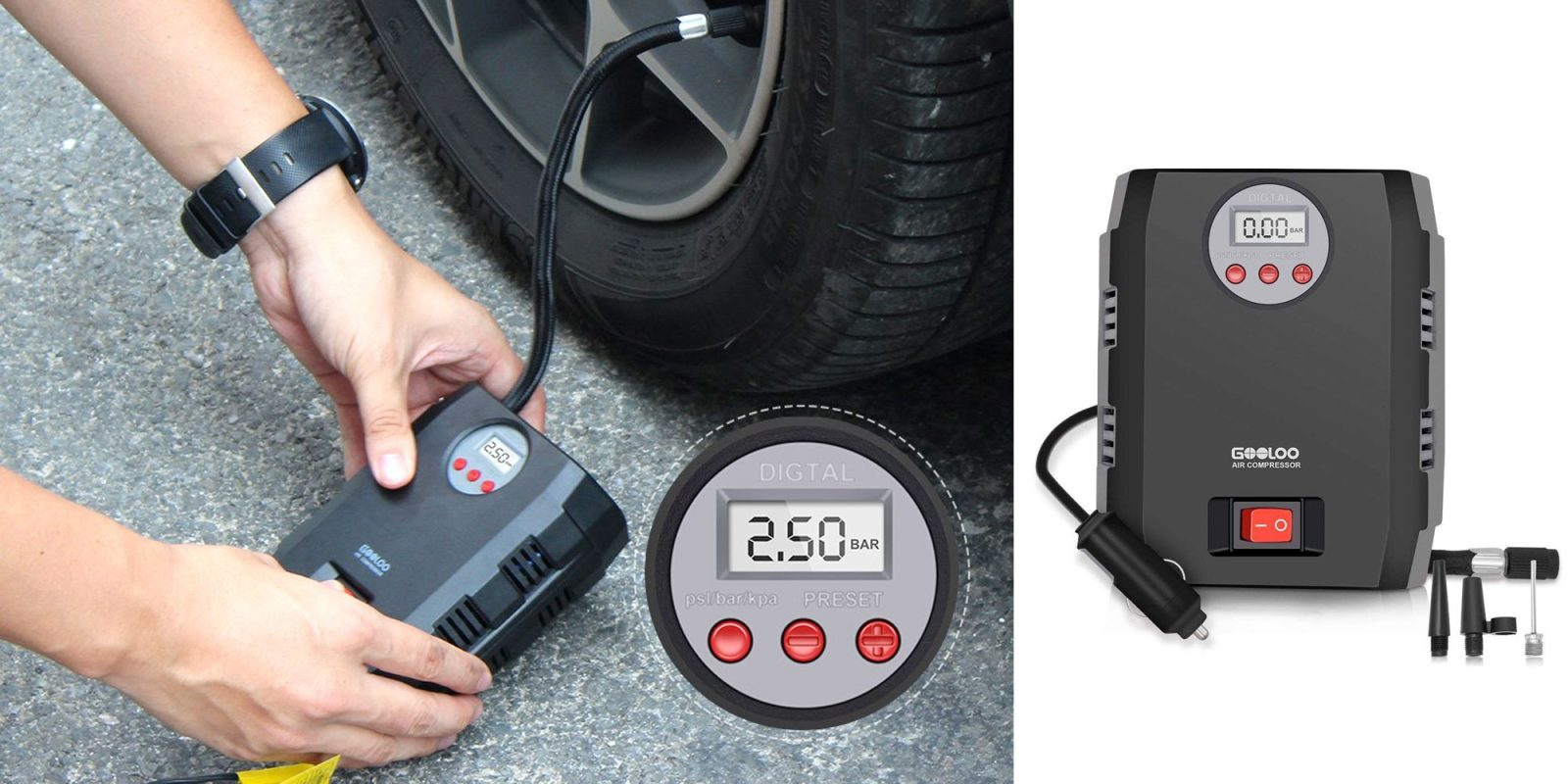 Enjoy better fuel economy by making your tires the proper pressure w/ this $15 compressor