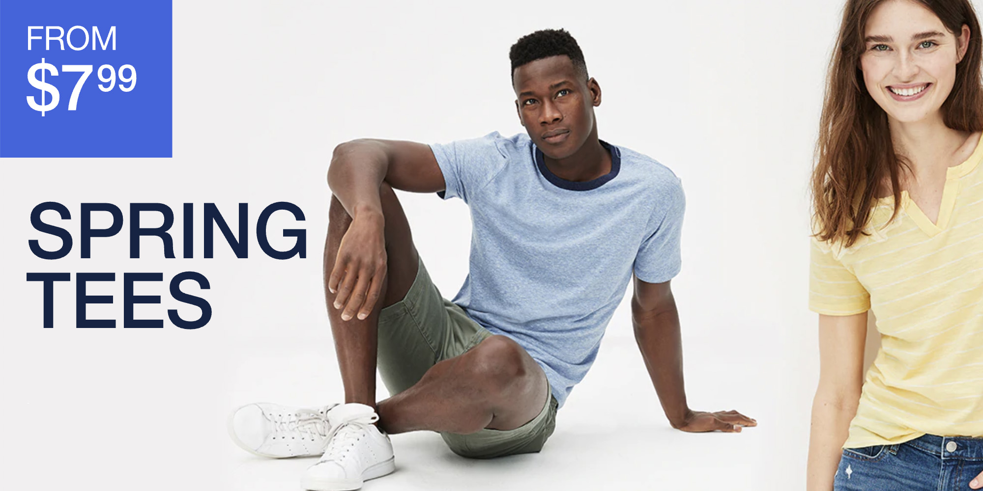 GAP Factory's Spring Sale offers up to 60% off all t-shirts, shorts, dresses & more from just $8