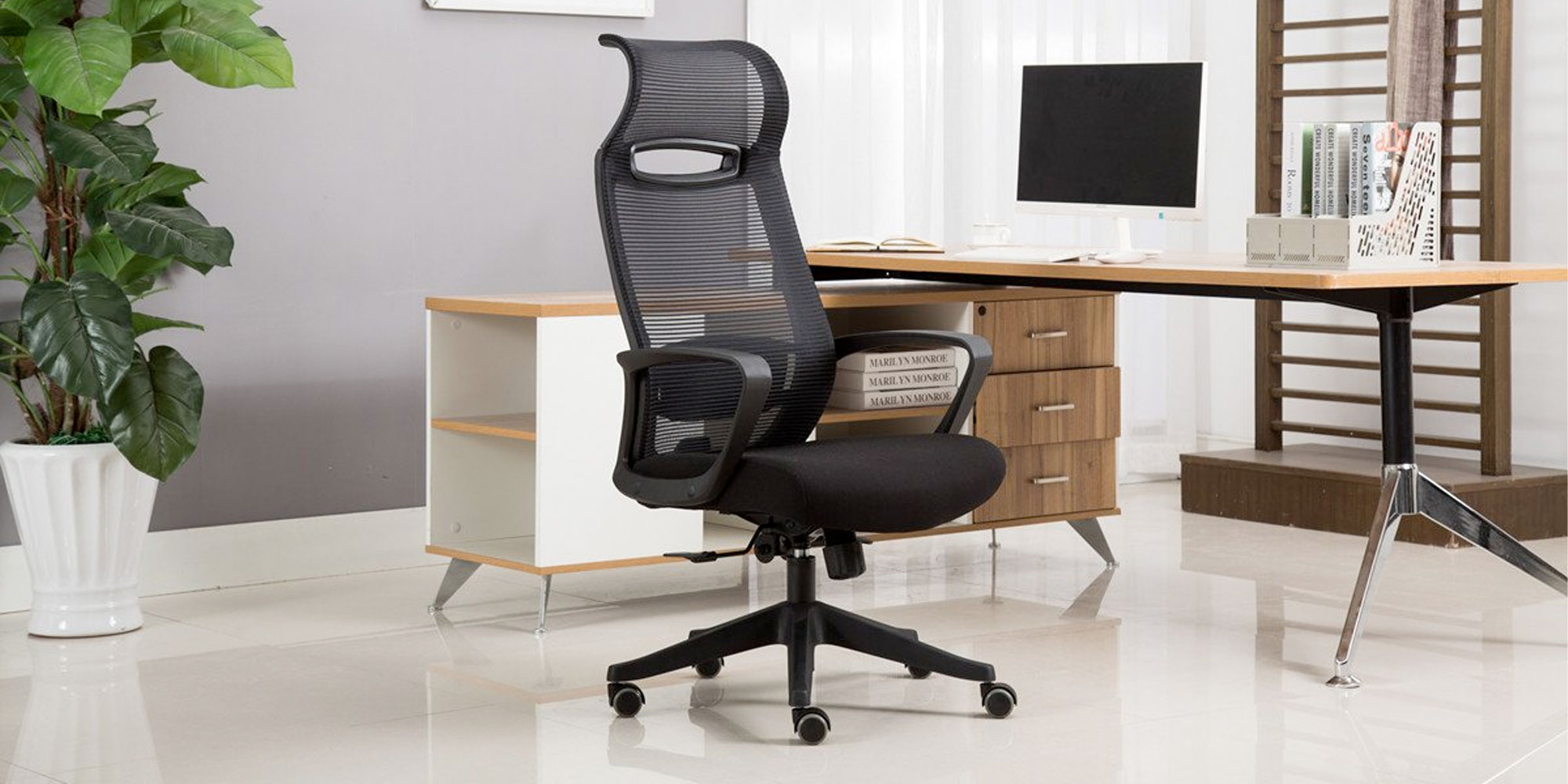 Finally get an ergonomic office chair w/ this high back model at $100 shipped (Reg. $130)