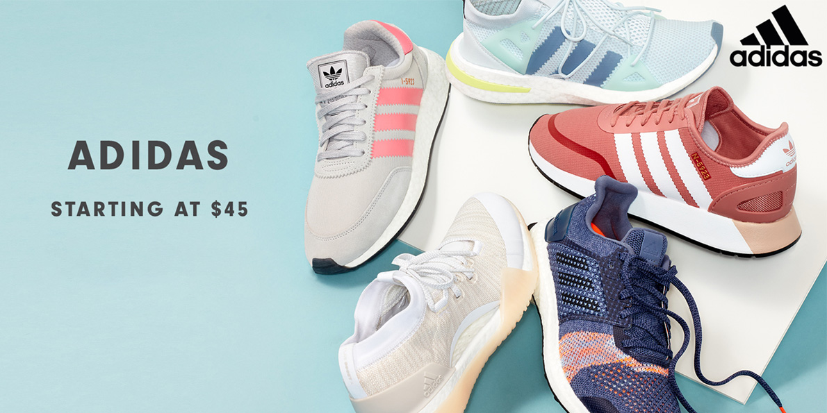 Find popular adidas sneakers for men & women from $45 during Hautelook's Flash Sale