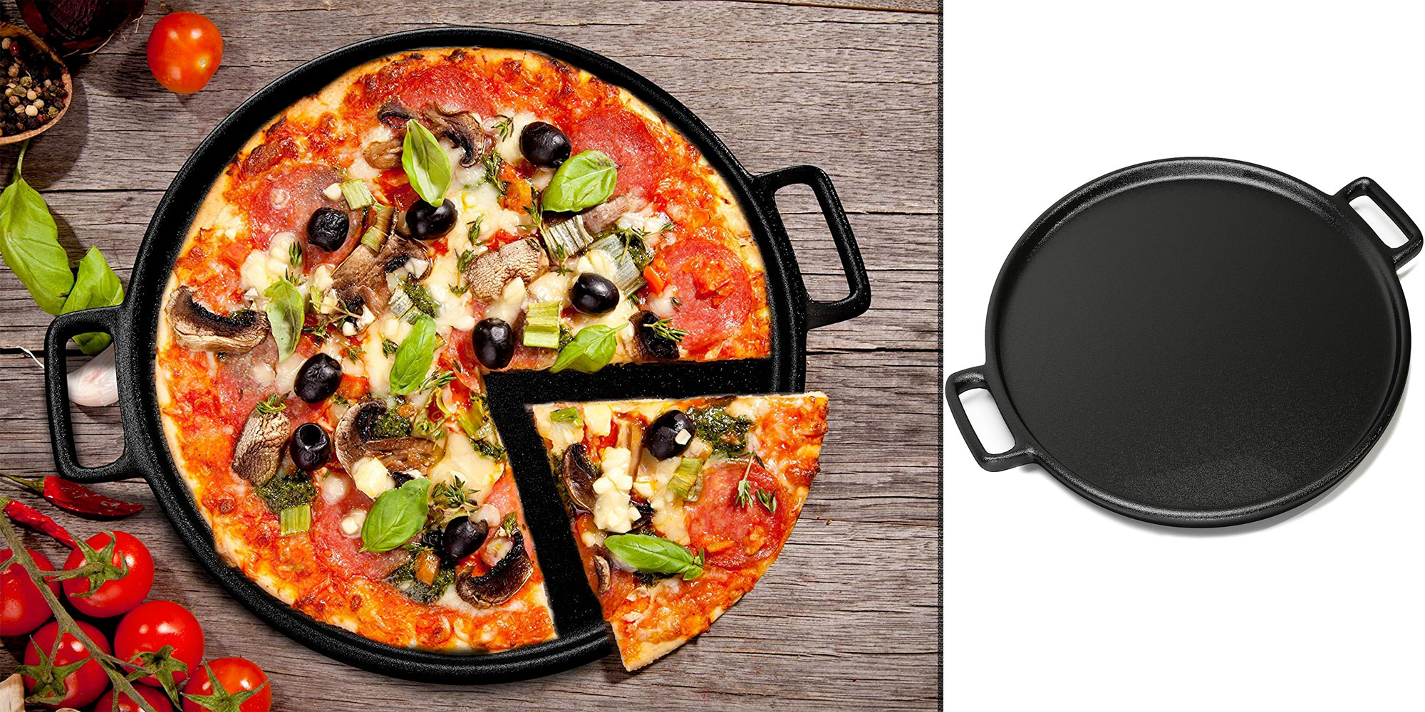 Enjoy homemade pizza on this 14-inch cast iron pizza pan for just $16 (Reg. $25)