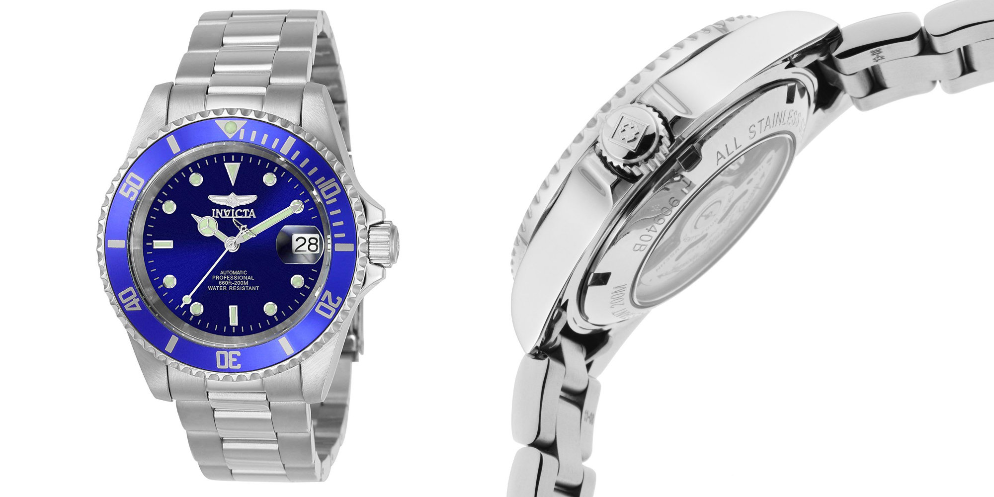 Go analog in style w/ Invicta's Stainless Steel Link Bracelet Watch: $54 shipped (Save $25)