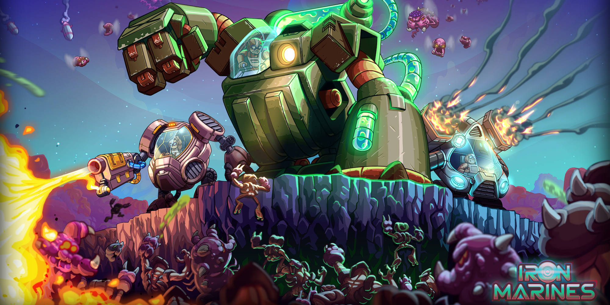 The Iron Marines real-time strategy game for iOS now matching the all-time low at $3 (Reg. $5)