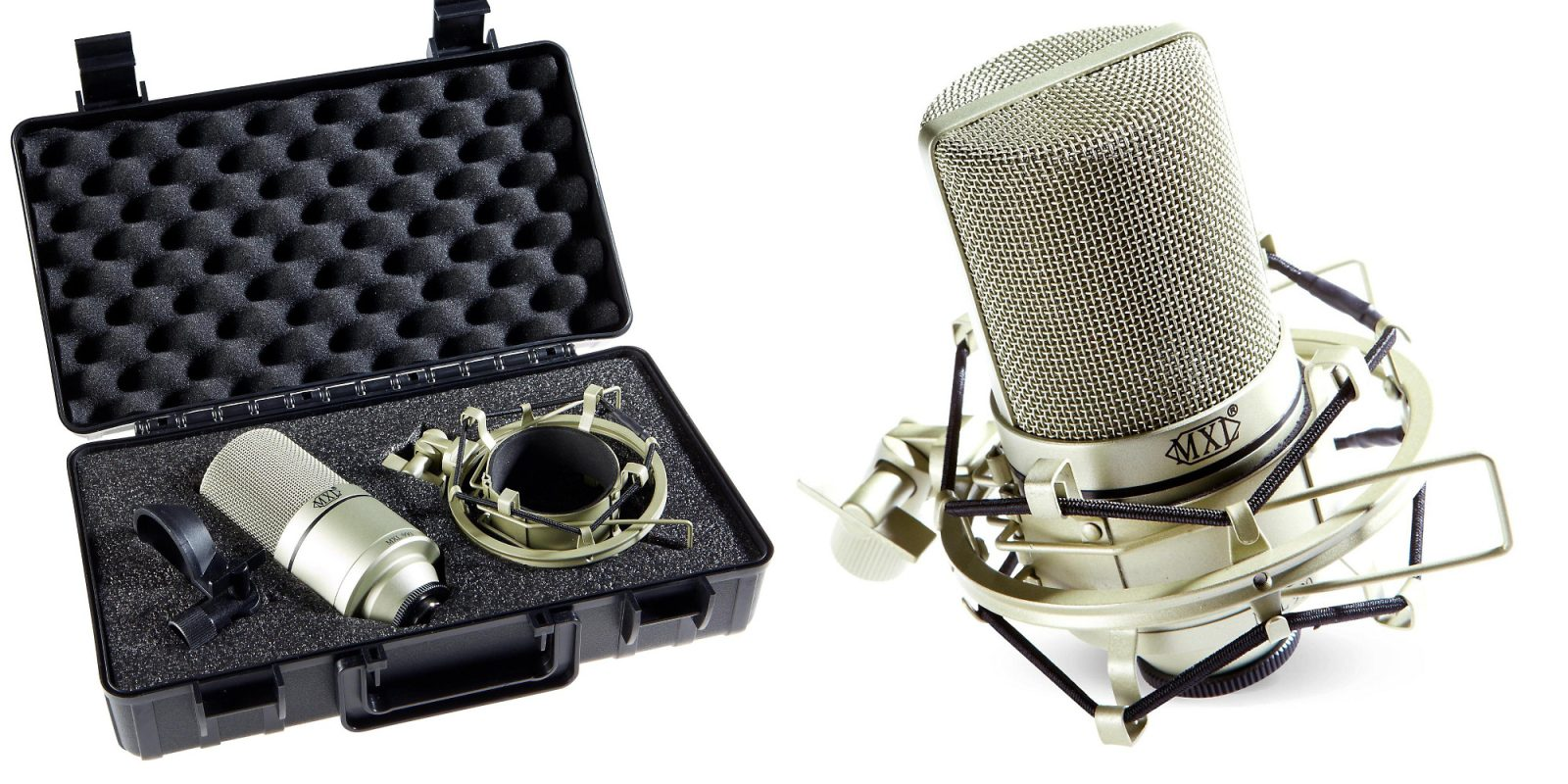 the mxl 990 mic kit includes a shock mount carrying case and more for 60 reg 100 9to5toys. Black Bedroom Furniture Sets. Home Design Ideas