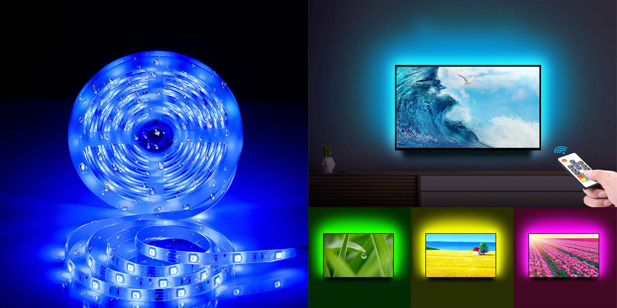 Add bias lighting to your home theater or ambient lighting to the rest of your home RGB strips from $7