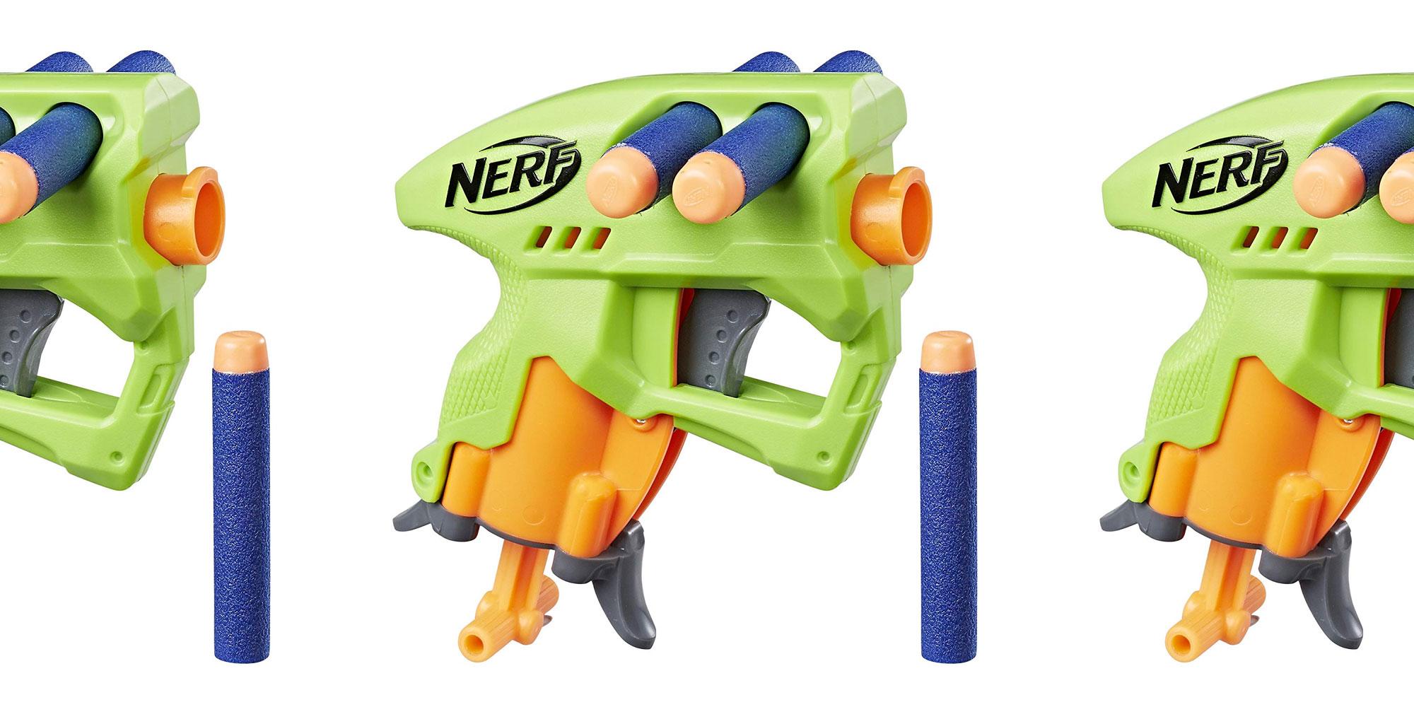 Always have a backup blaster w/ Nerf's micro N-Strike NanoFire Dart Gun for $2.50