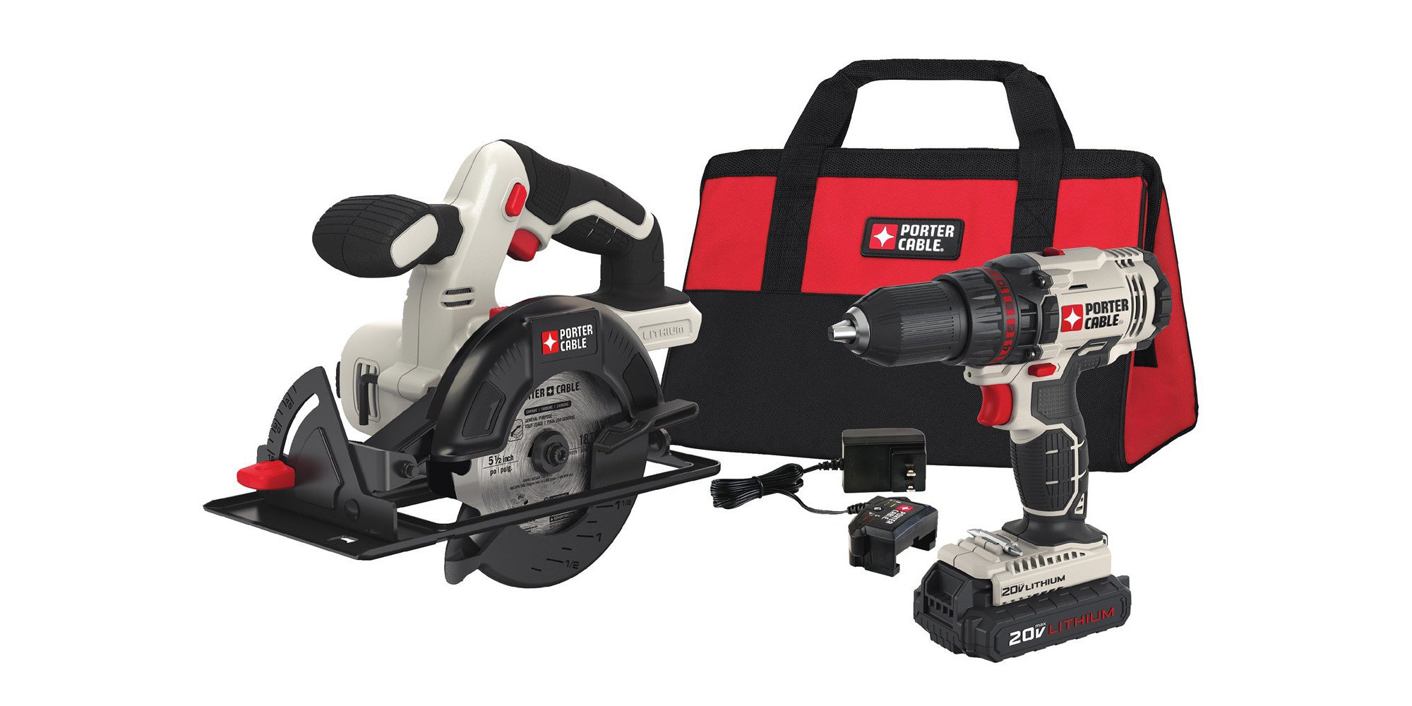 This Porter Cable 2-Tool Combo Kit includes a drill/driver, circular saw, more: $97 (Save $30+)