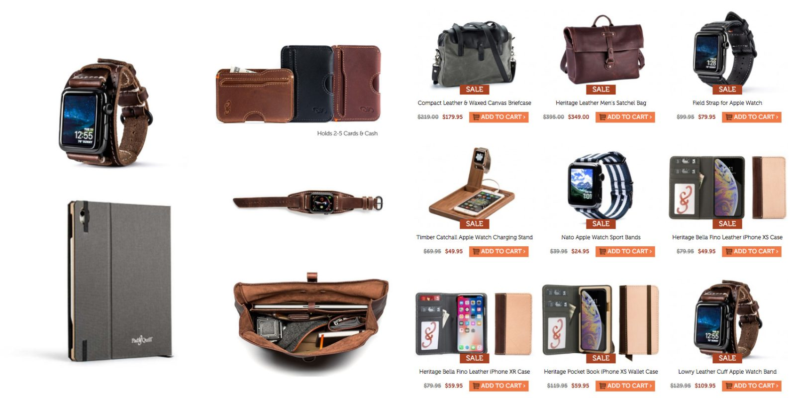 8b56b9a0241ae6 Pad & Quill Apple gear accessories up to 30% off: Watch bands, bags, iPad  cases, more
