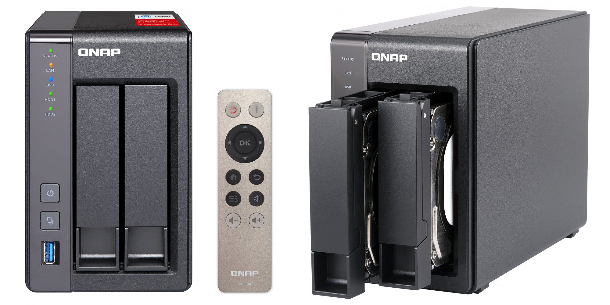 QNAP's Quad-Core, Plex-friendly, 2-Bay NAS nearly hits its Amazon low at $262.50