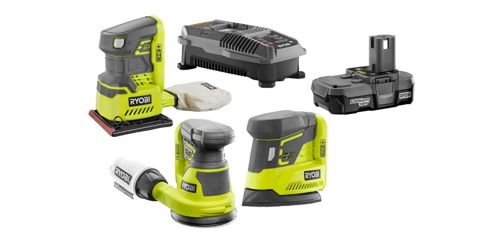 Ryobi's 5-piece sander kit is perfect for weekend warrior DIYers this spring at $99 (Reg. $130+)
