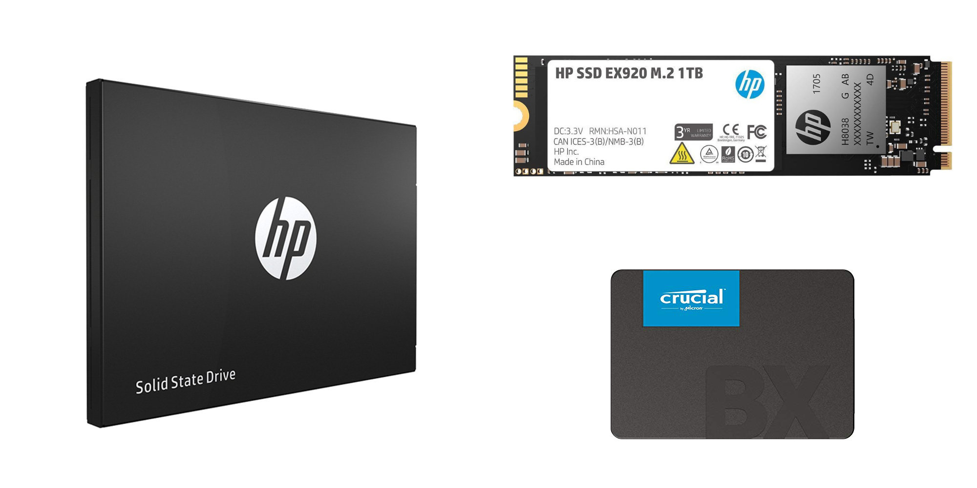 Snag HP's all-metal 500GB Pro SSD for $58 (Reg. $75), Crucial 240GB $30, more