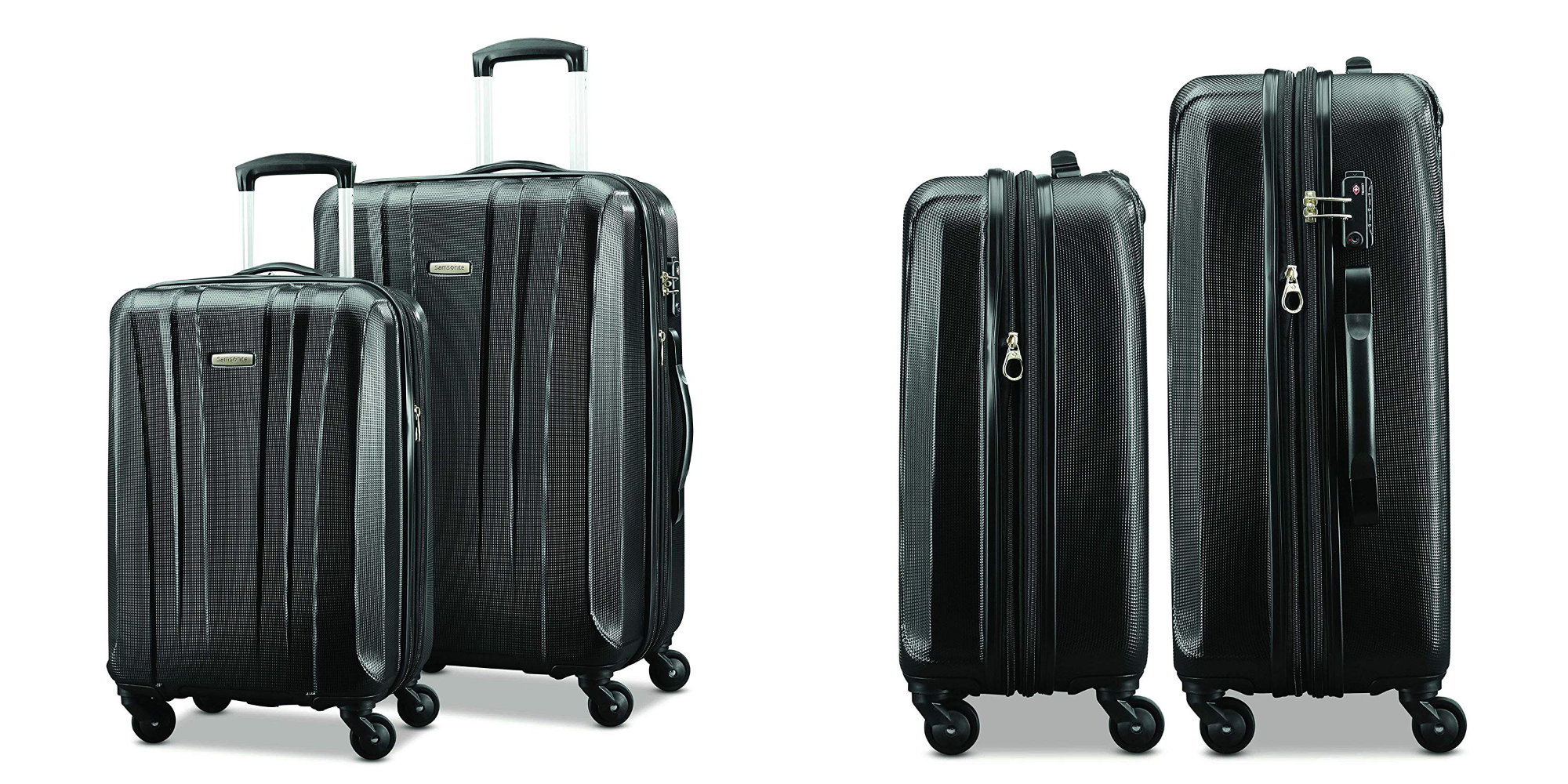 Go high-end w/ a Samsonite Pulse 2-pc. Deluxe Spinner Luggage Set: $111 at Amazon (Reg. $140)