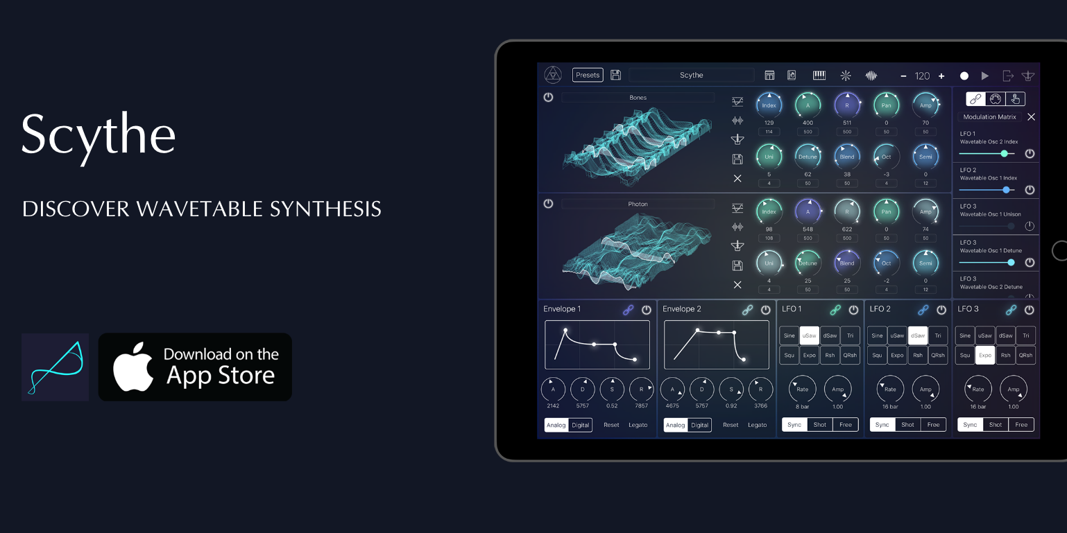 Take your iPad sound design next level, Scythe Synth is now FREE for the first time (Reg. $6)