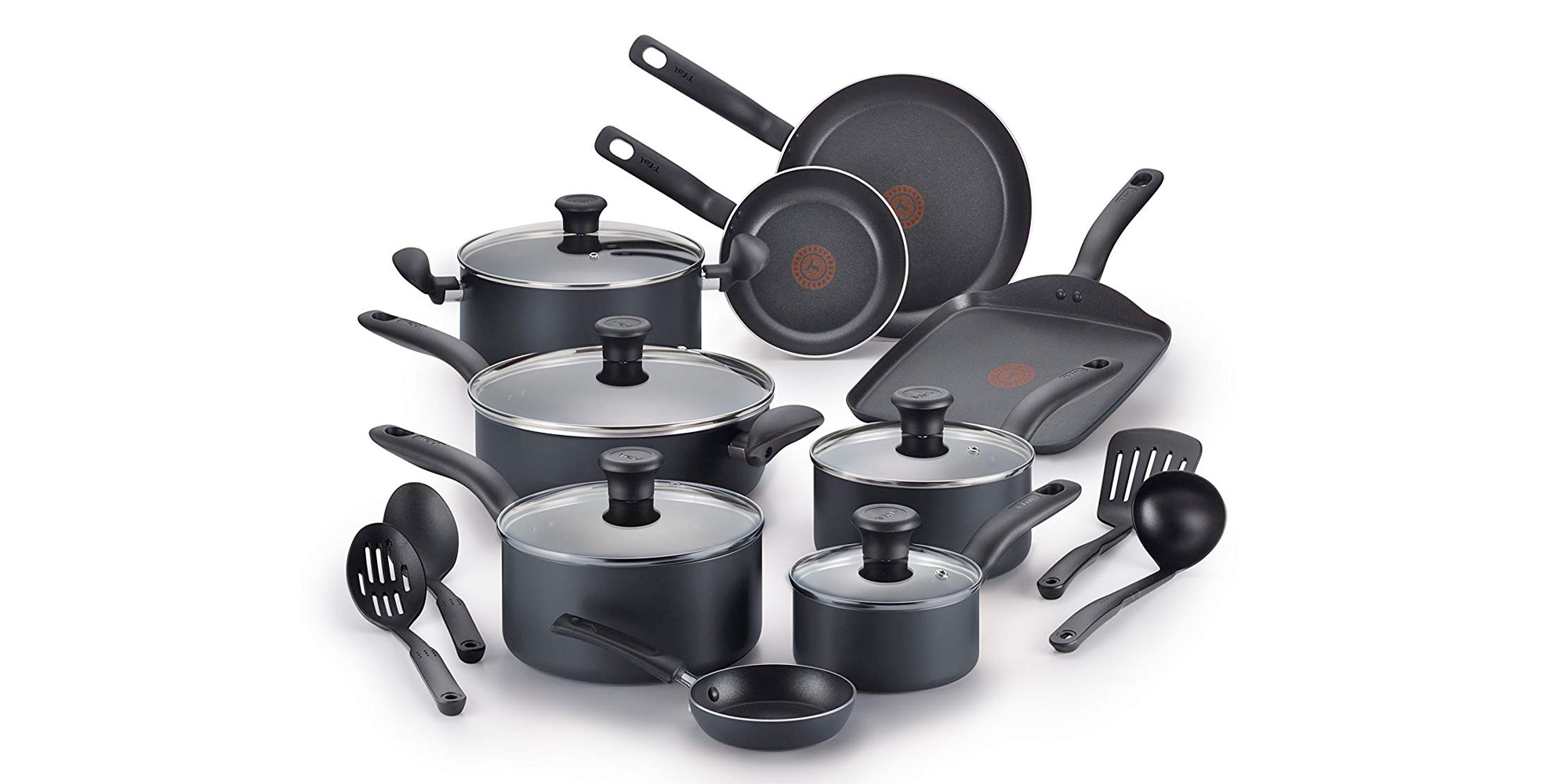 Start or expand your kitchen w/ T-Fal's #1 new-release 18-piece cookware set: $59.50 (Reg. $80+)