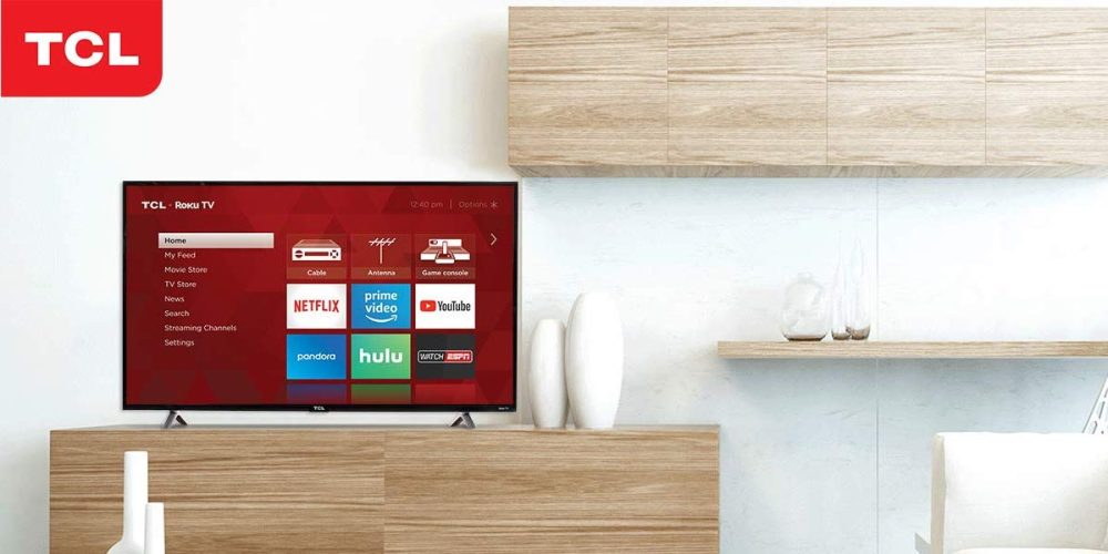 43-inch TCL Roku Smart 120Hz HDTV $170: Perfect for basement