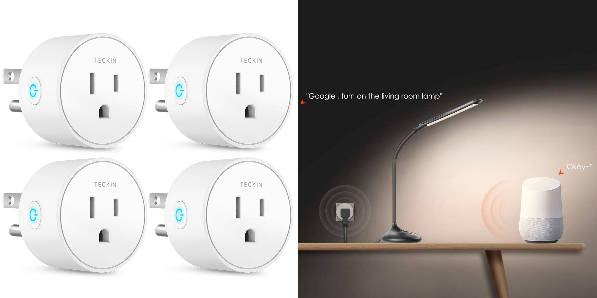 Command 4 devices in your home w/ this multi-pack of smart plugs for less than $7 each