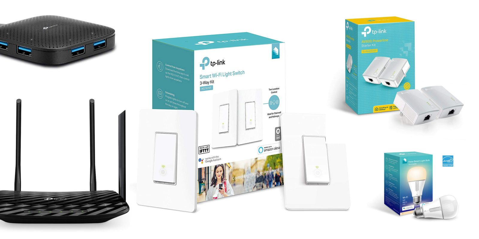 Amazon 1-day TP-Link network sale from $8: smart plugs/light