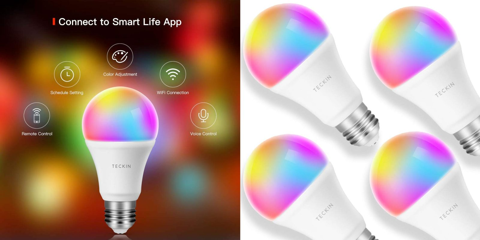 Start your RGB journey w/ this 4-pack of smart bulbs for