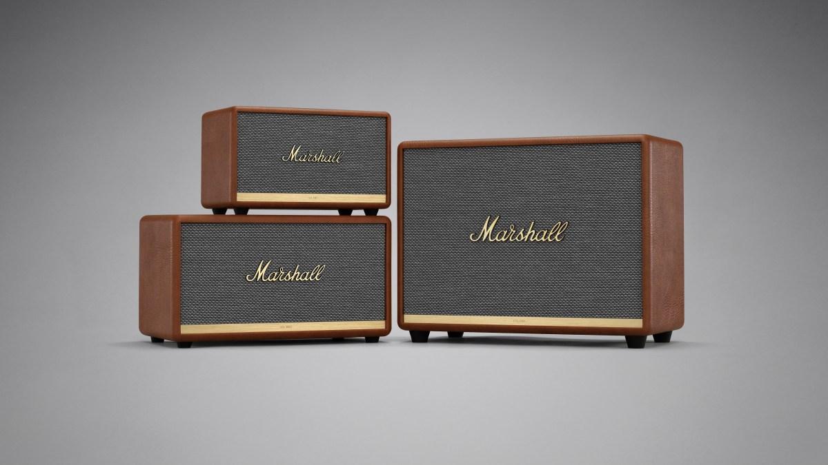 Marshall Bluetooth speakers go brown