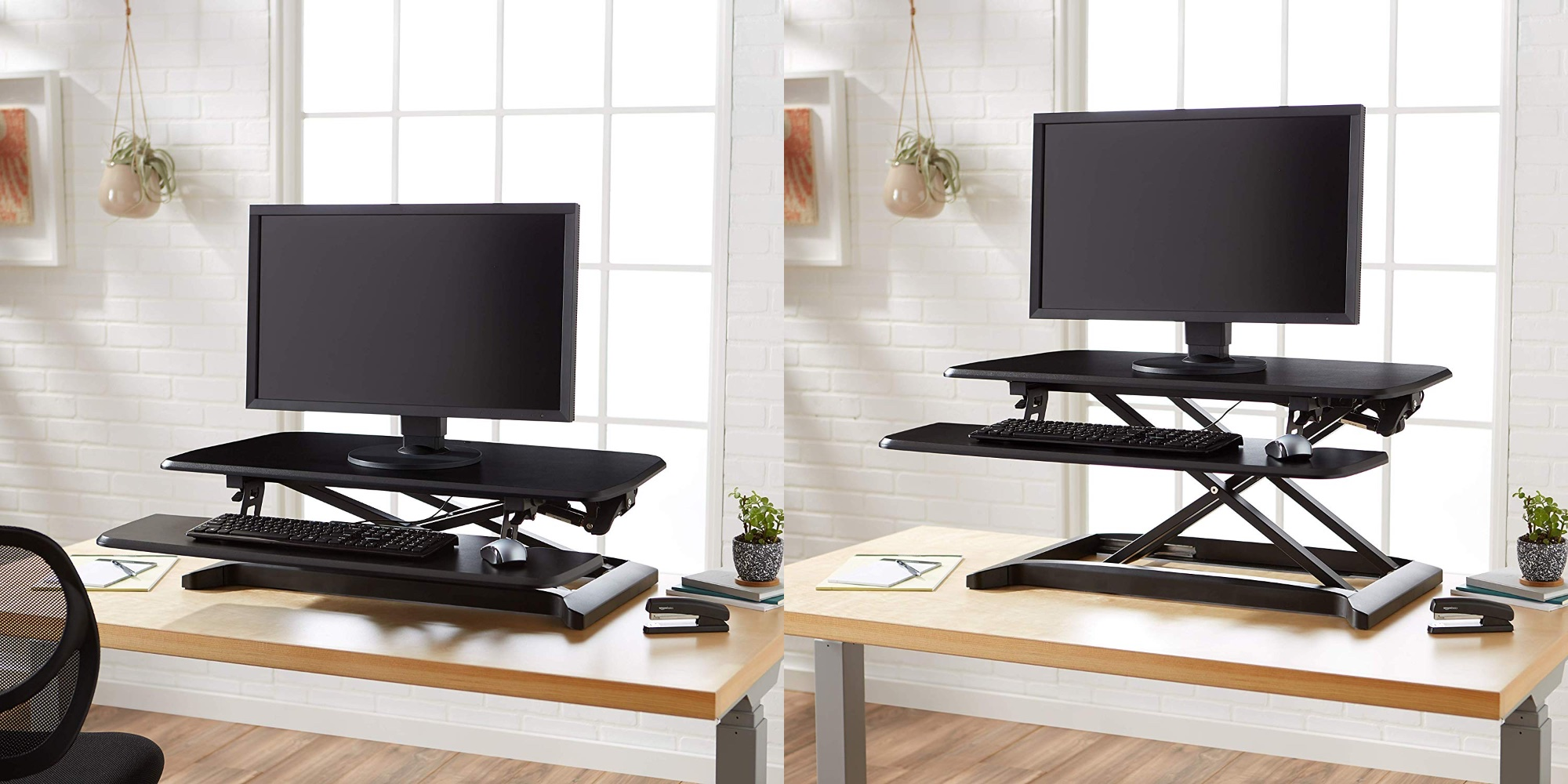 Convert your workspace into a standing desk with AmazonBasics' $104 attachment (Reg. $249)