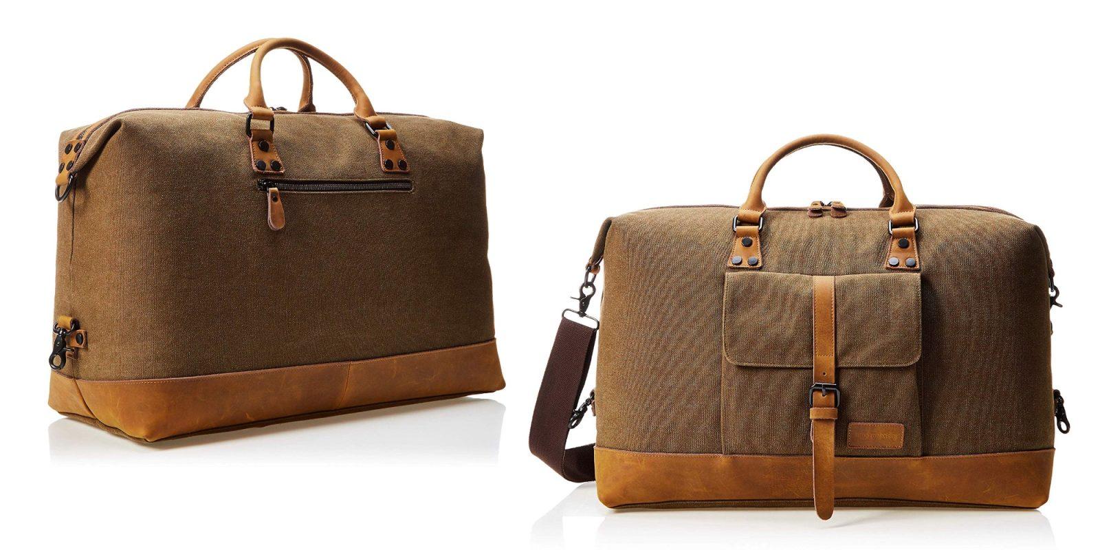 AmazonBasics' Canvas Duffel Bag totes around your travel essentials at $34 (Reg. $50)