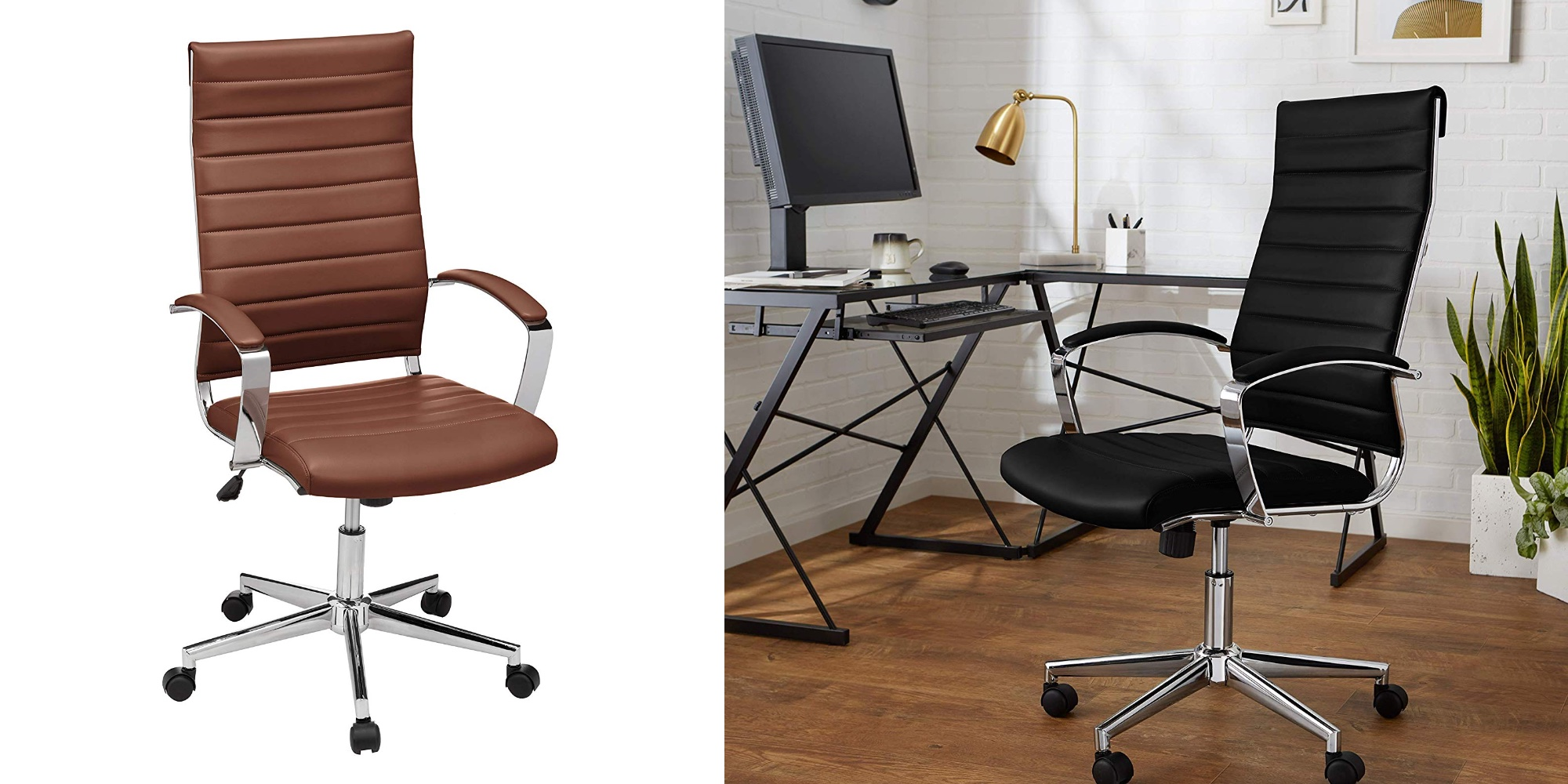 Save 20% on the AmazonBasics High-Back Executive Swivel Chair at $136 (All-time low)