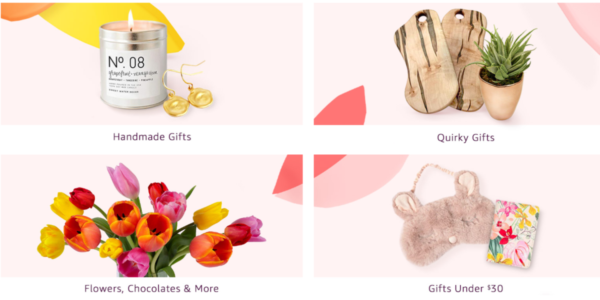 amazon mother's day shop main banner