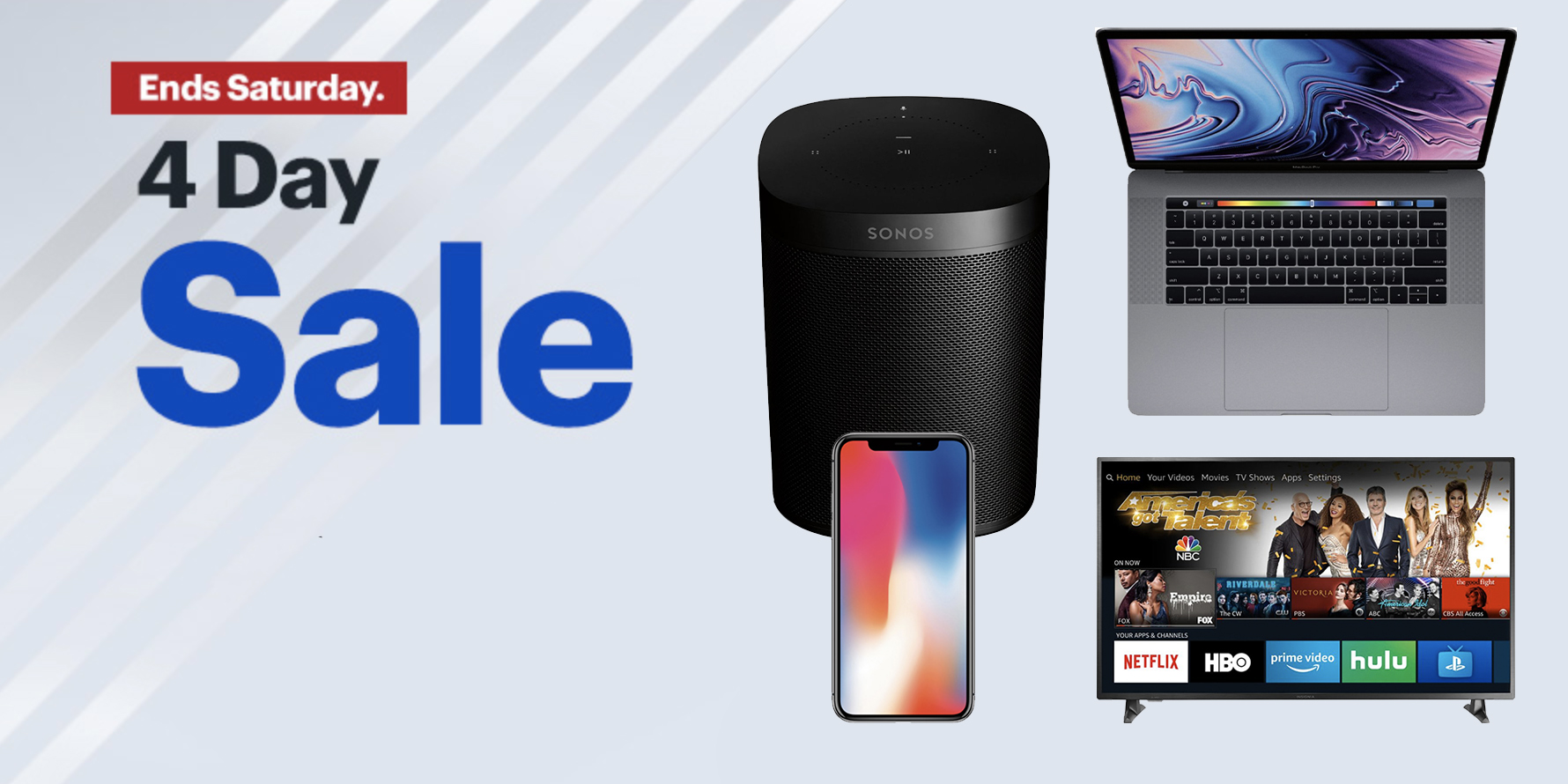 Best Buy's new four day sale is live w/ $400 off MacBook Pro, Sonos, iPhone X, TVs, more