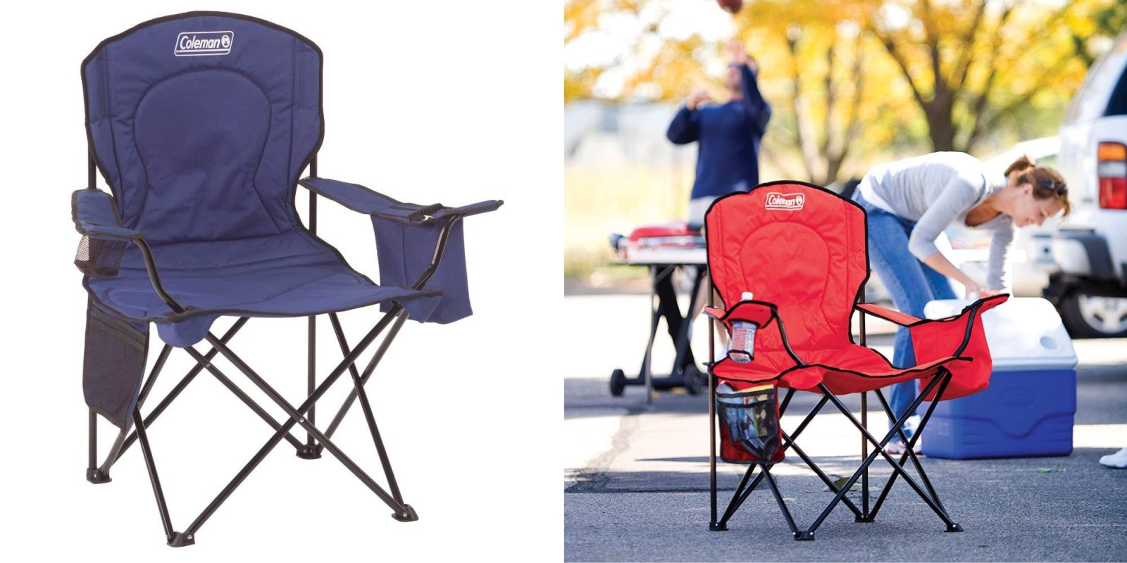 This Coleman Camping Chair has a built-in cooler for max convenience from $20