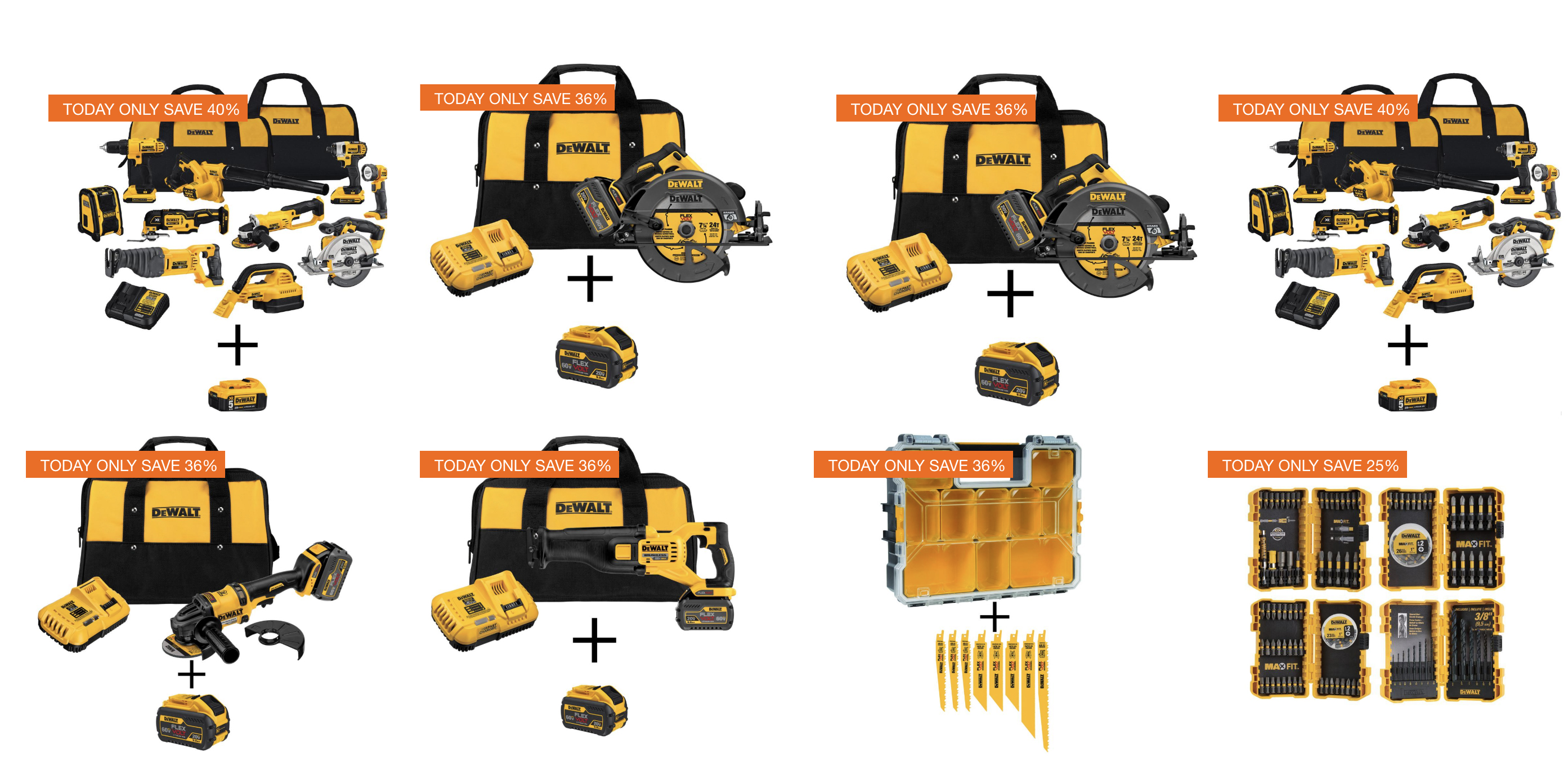 Home Depot 1-Day DEWALT Tool Sale from $25: Saws, multi-tool bundles, accessories and more
