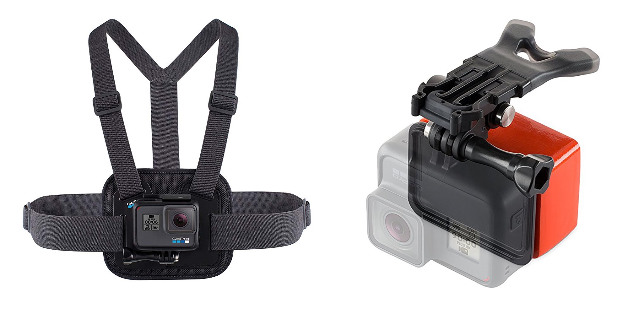 Equip your GoPro w/ official accessories: chest mount $30, Bite Mount + Floaty $24 (Up to 25% off)