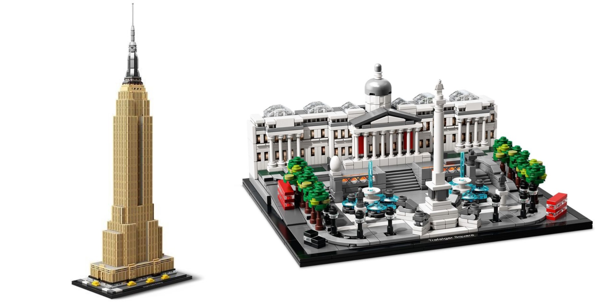 LEGO expands Architecture line with 1,700-piece Empire State Building and Trafalgar Square sets