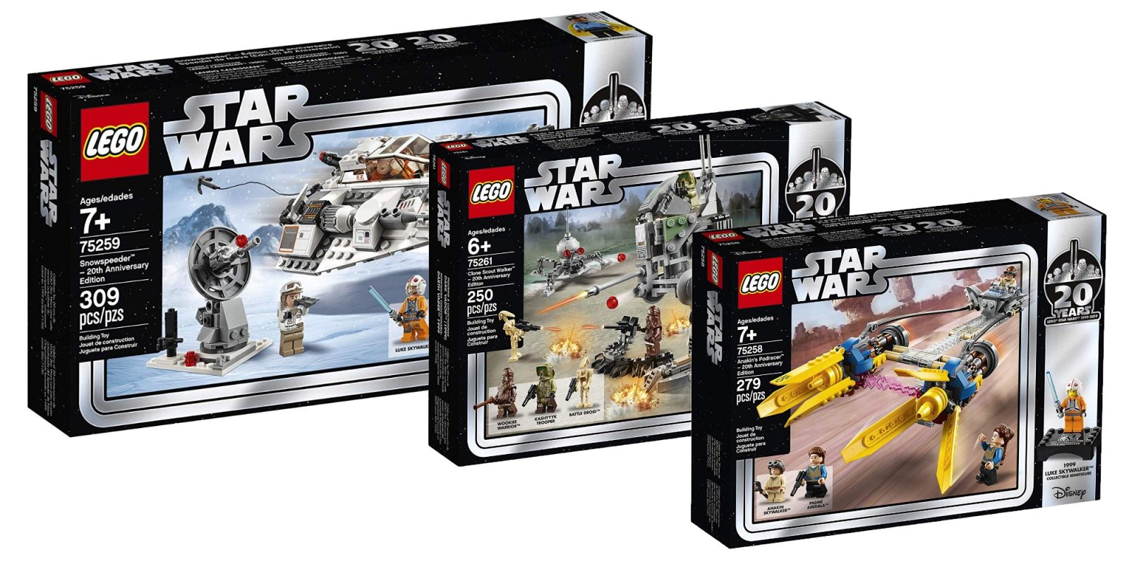 Save 20 On The All New 20th Anniversary Lego Star Wars Sets From