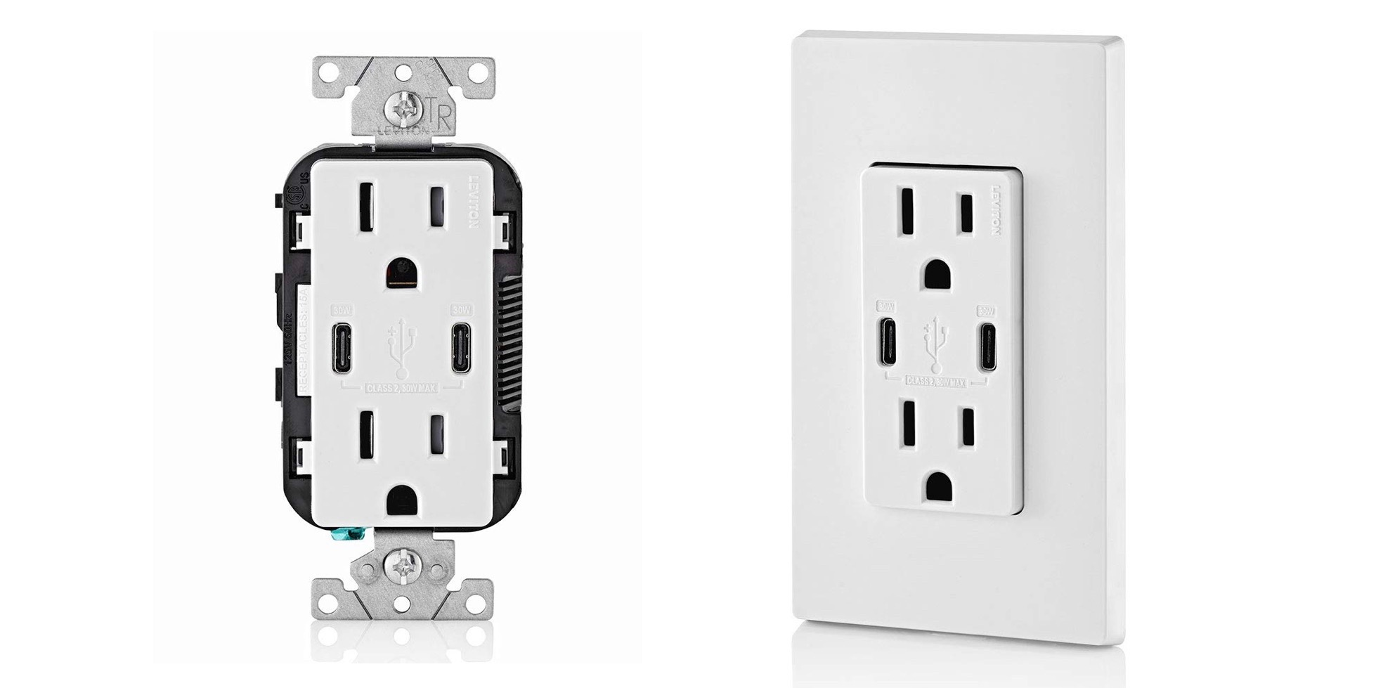 Leviton Usb C Wall Outlet With 30w Per Port Now Available