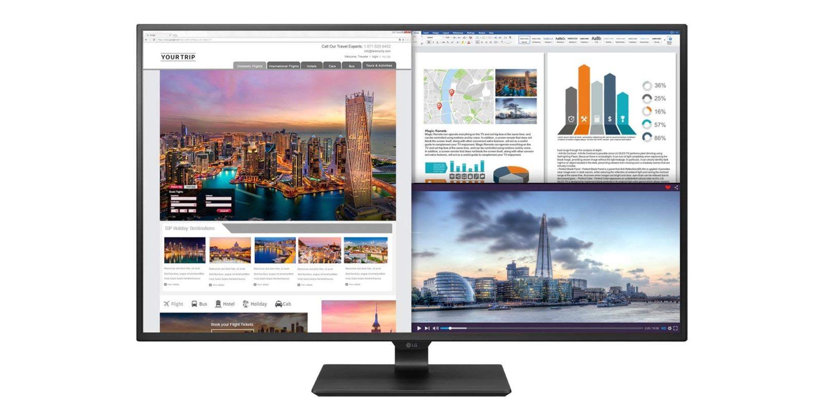 LG's 43-inch 4K UHD Monitor has USB-C and plenty of screen real
