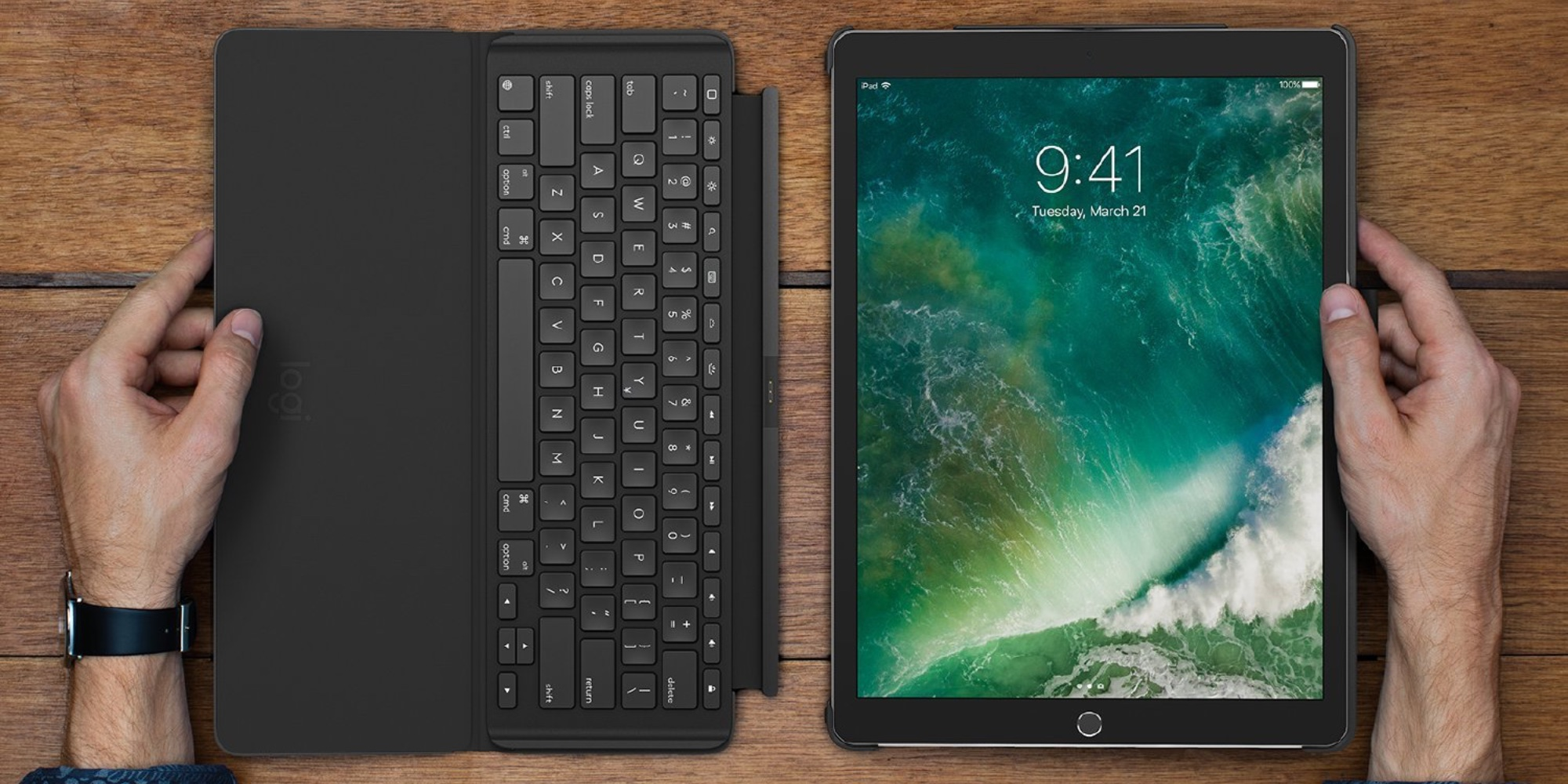 Pair your 10.5-inch iPad Pro w/ Logitech's Slim Combo Keyboard Folio Case at $91.50 (Reg. $129)