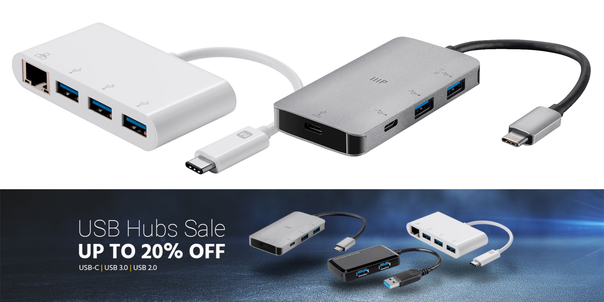 Save up to 20% on USB-C hubs and more at Monoprice from under $9 shipped