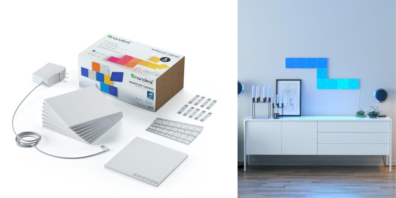 Nanoleaf HomeKit Canvas Smarter Kit drops to lowest price at $200, Rhythm Kit $180, more