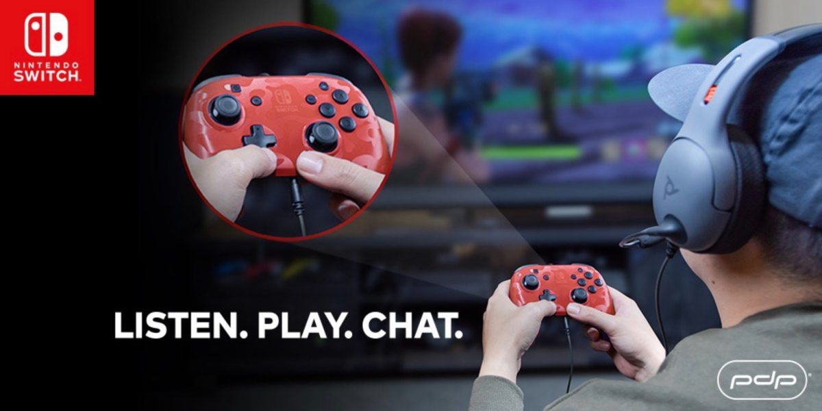 PDP Faceoff controller shown with Nintendo Switch