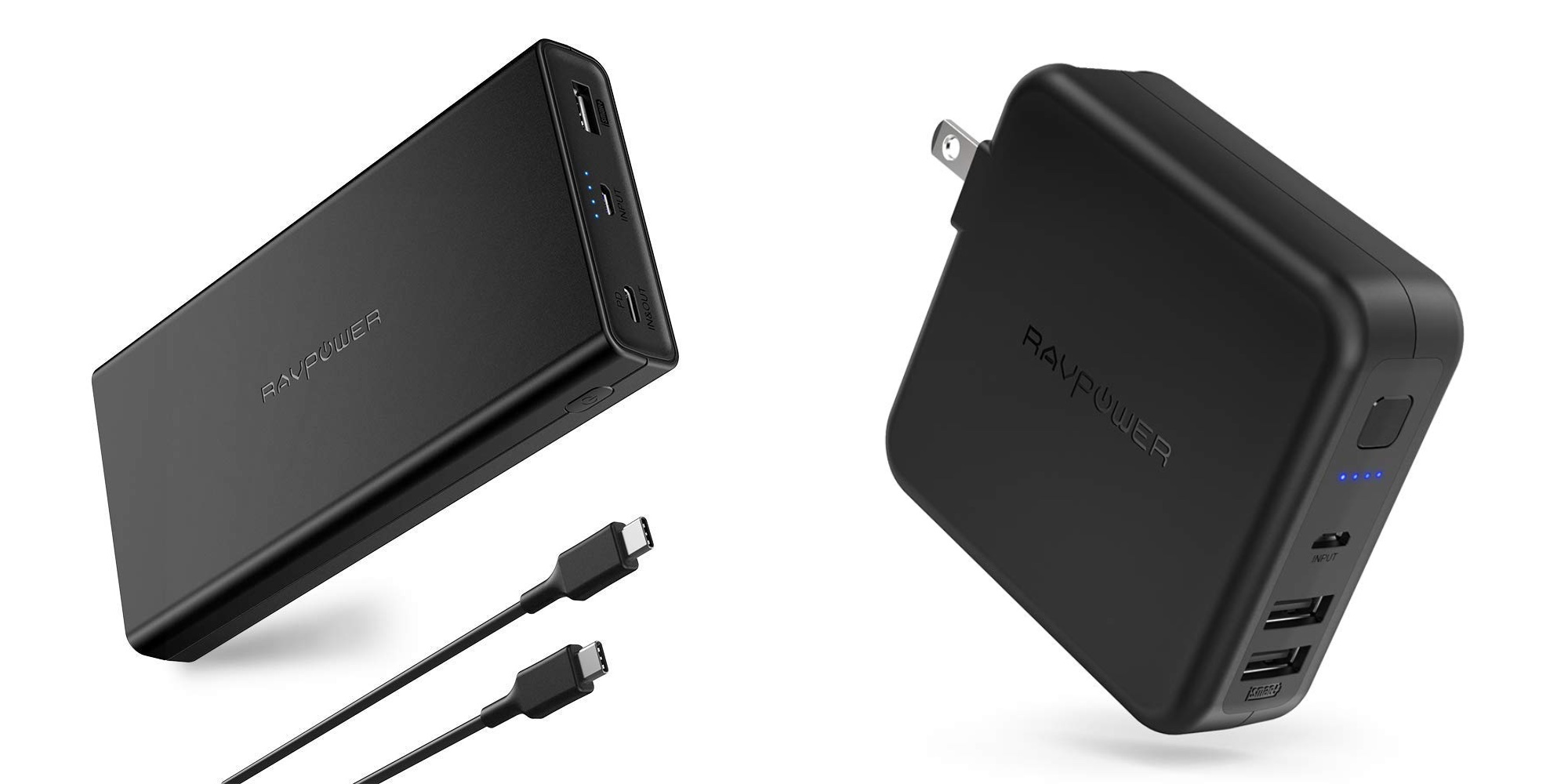 Smartphone Accessories: RAVPower USB-C PD 20100mAh Power Bank bundle $50, more