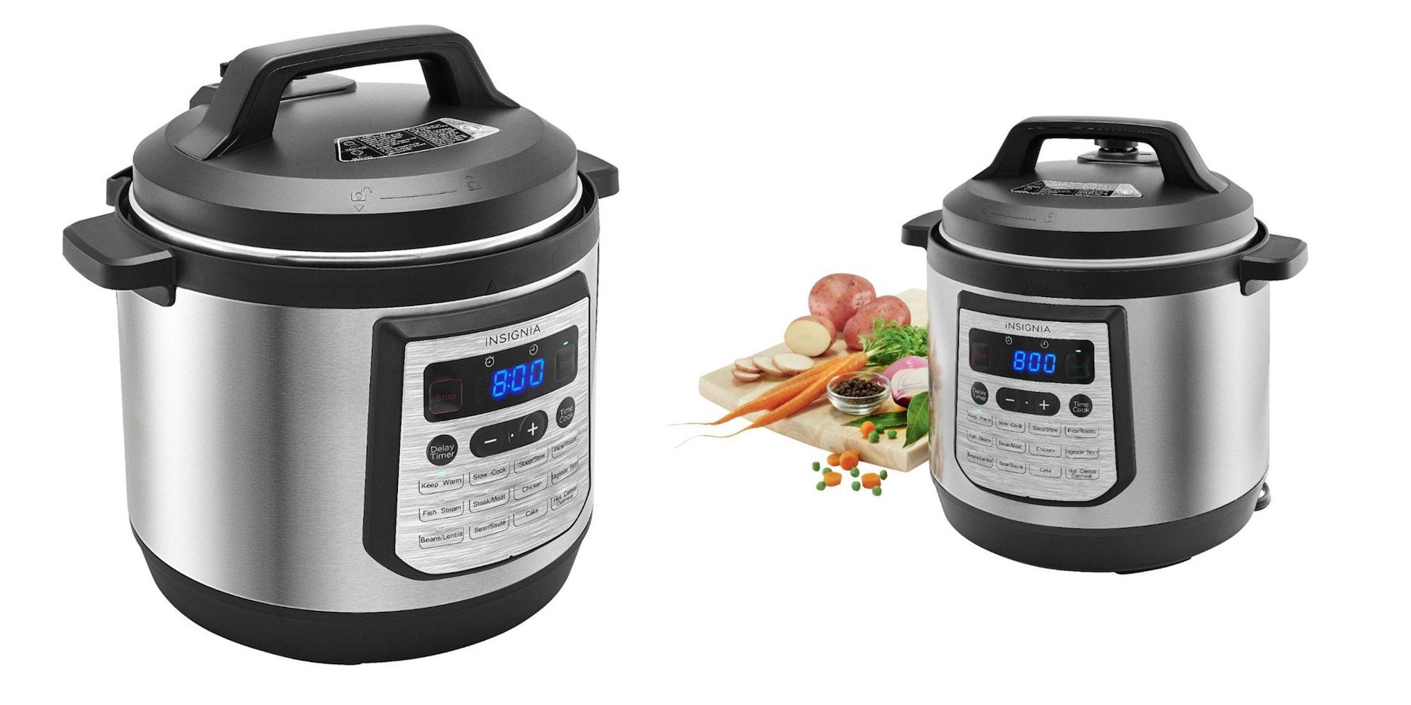 Insignia's big boy 8-quart Multi-Function Pressure Cooker is just $40 right now (Reg. $78+)