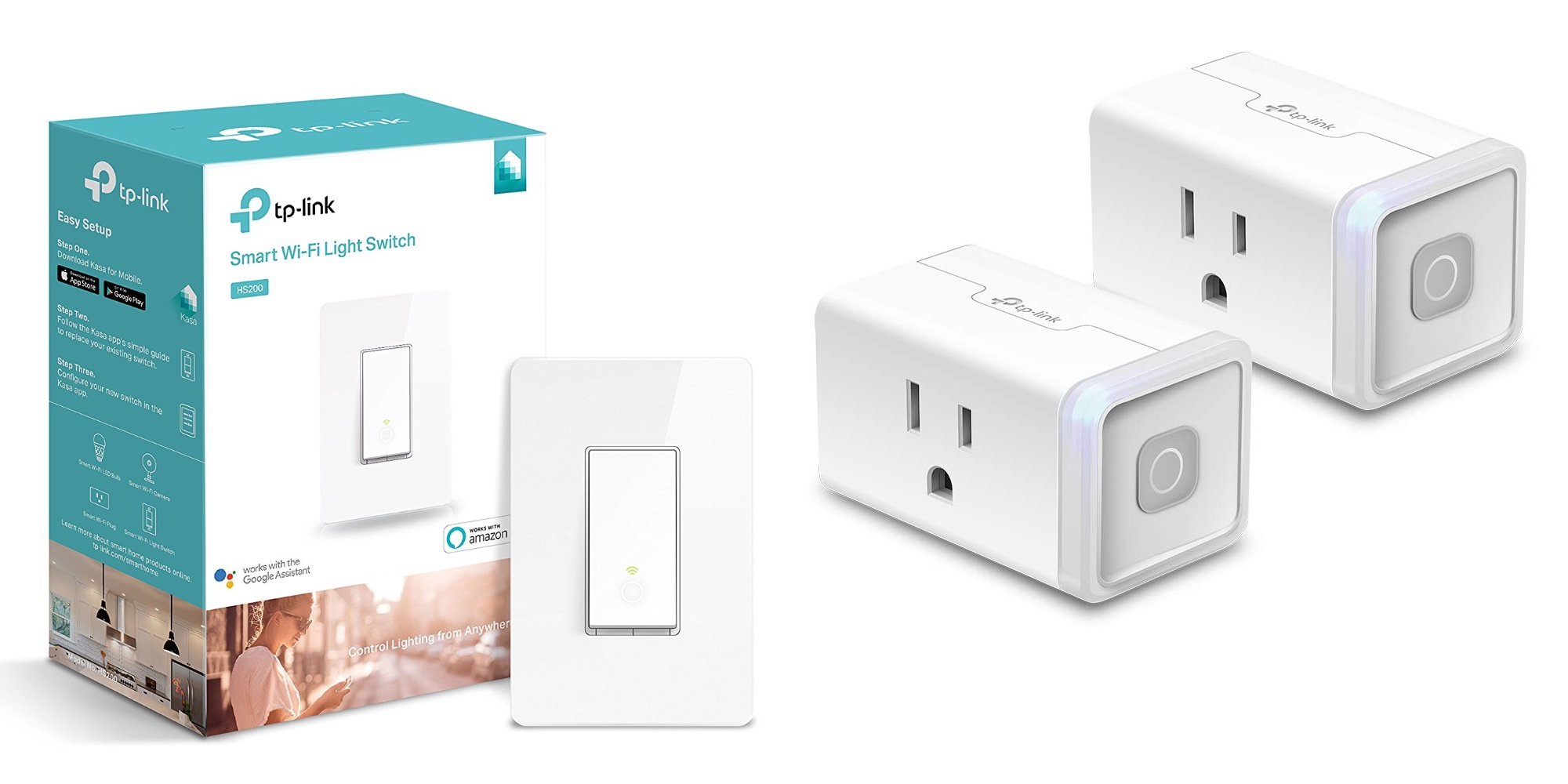 Expand your smart home with two TP-Link Plugs for $23 or two Light Switches for $40 (Save up to 35%)