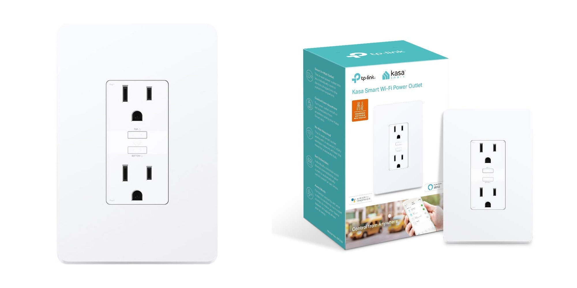 Save on TP-Link's new in-wall Dual Outlet Smart Plug: Get one for $30 or two for $55 (Reg. $40 each)