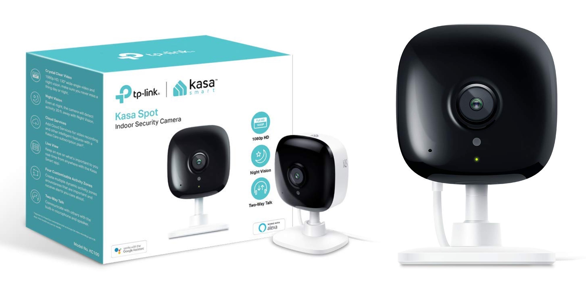 Snag two TP-Link Kasa KC100 1080p Smart Security Cameras for an all-time low: $80 (20% off)