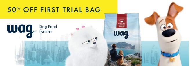 wag pet food trial amazon
