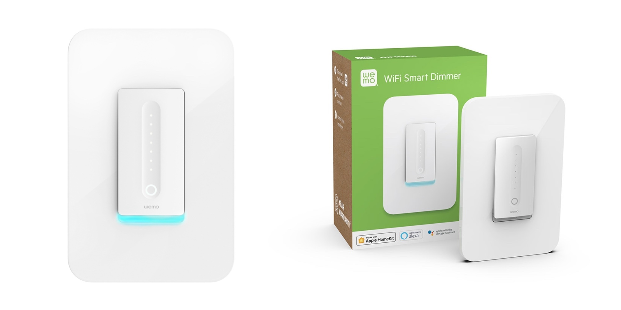 Two of Wemo's Smart HomeKit Dimmer Switches return to the Amazon low at $95 (Save $20)