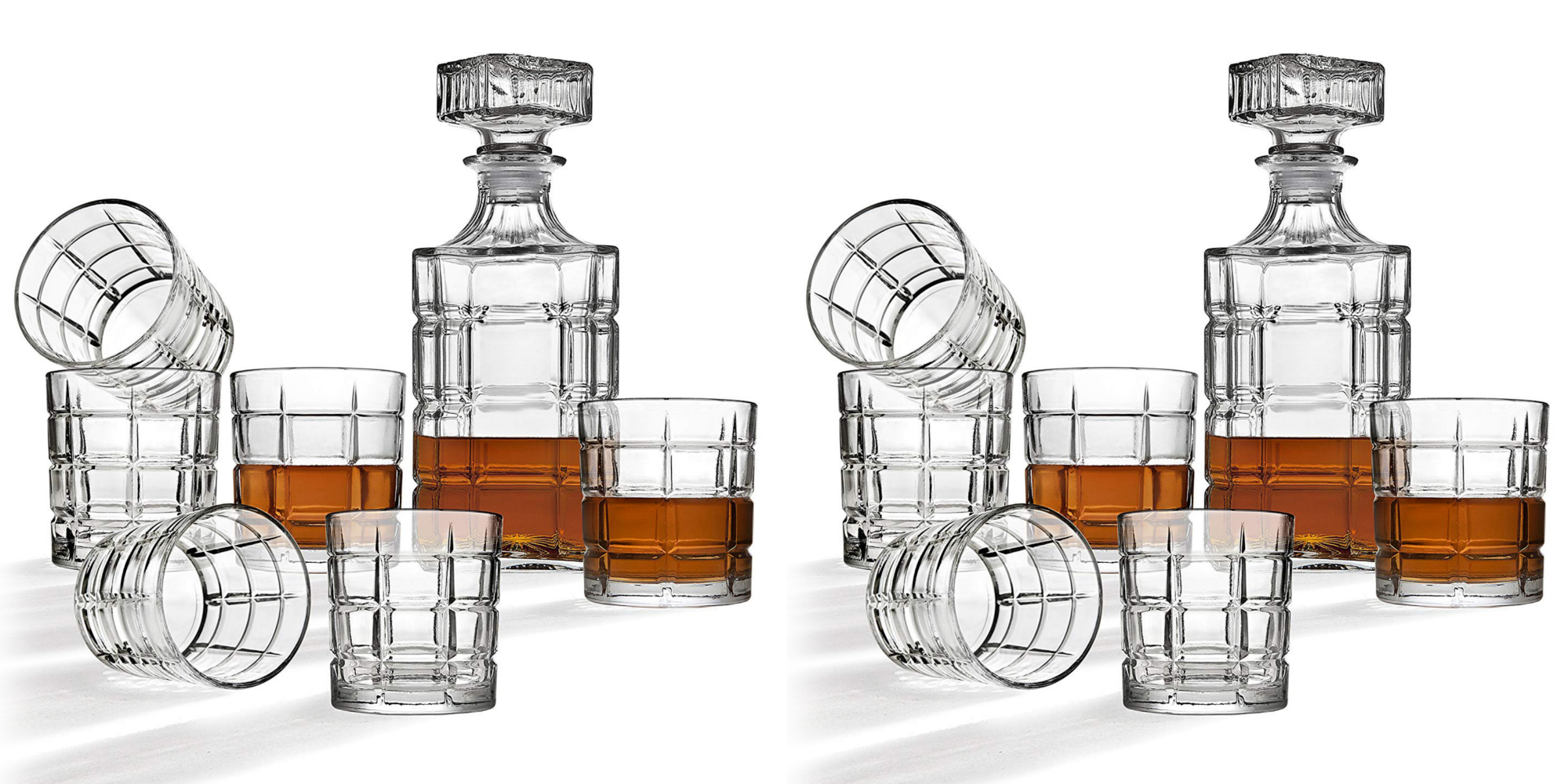 Put this Clear Crystal Decanter and Cocktail Glass Set on the bar for $15 (Reg. up to $40)