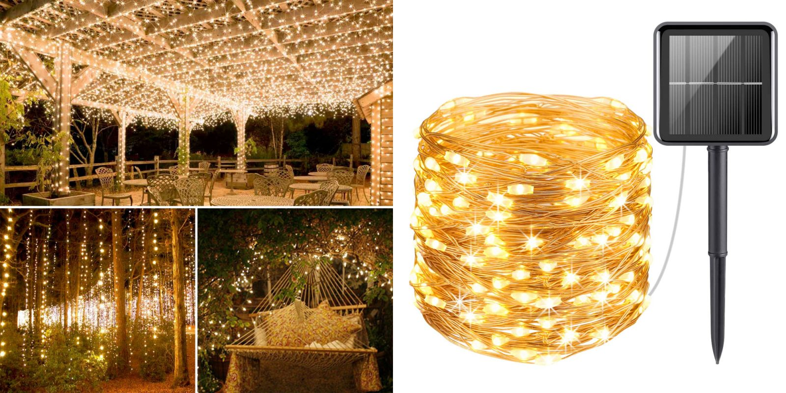 Upgrade your outdoor space w/ this solar powered string light kit for $7