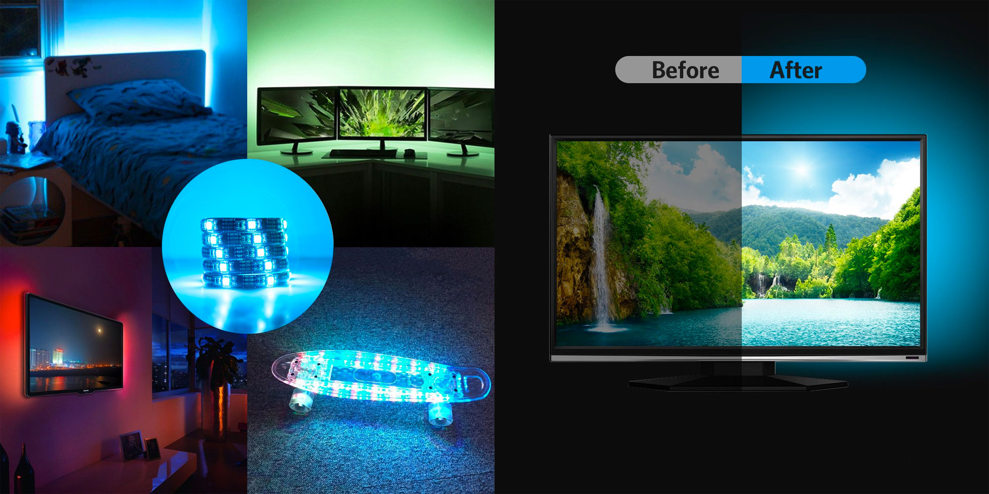 Add RGB bias lighting to your home theater w/ this budget-friendly USB-powered strip at just $6.50
