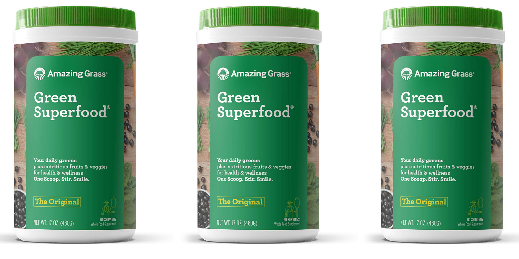 Grab 60 servings of Amazing Green Superfood Powder w/ Wheat Grass at $15.50 (Reg. $30)
